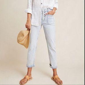 Pilcro & TLP High Rise Railroad Striped Jeans